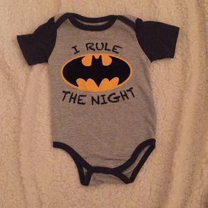 "Batman ""I Rule The Night"" onesie size 12m"